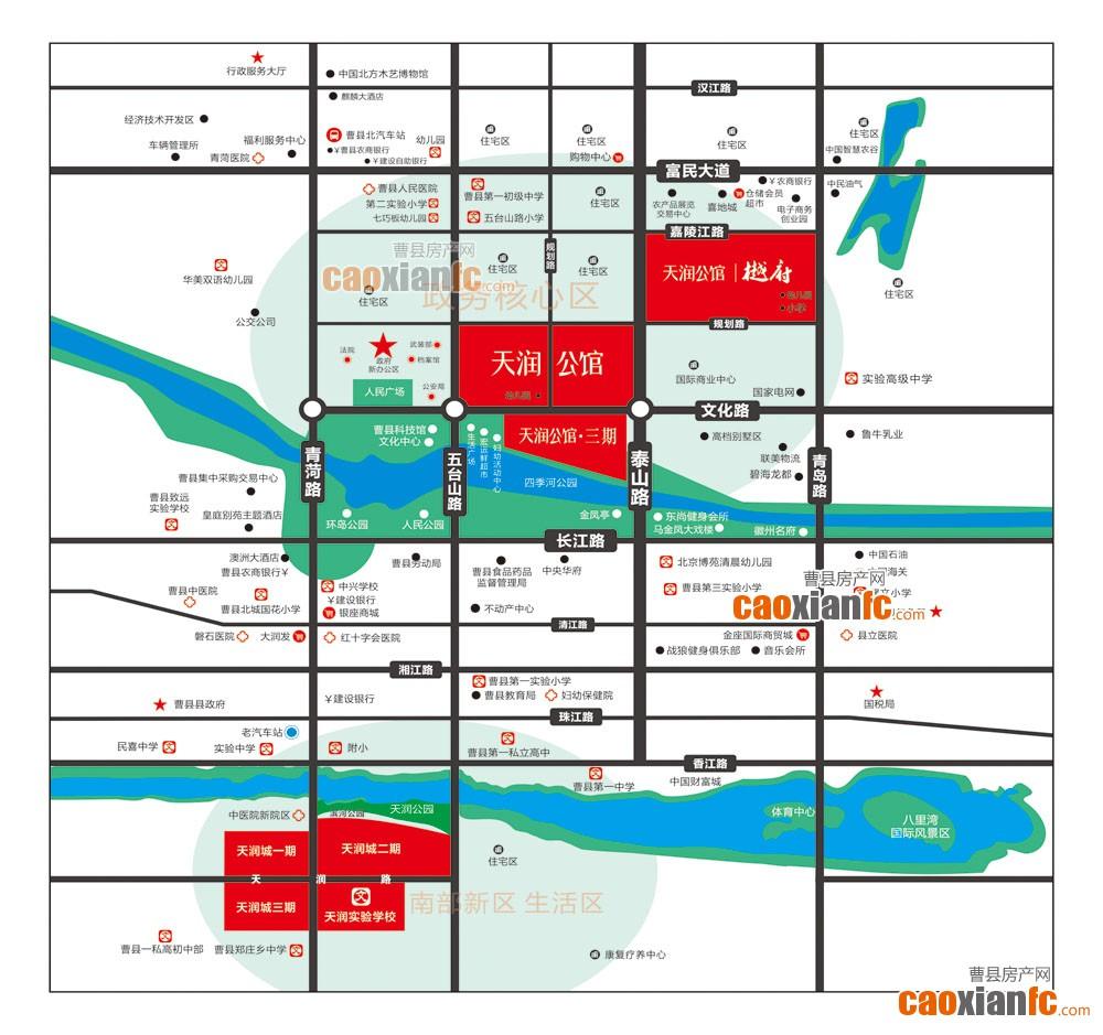 天润公馆交通区位图