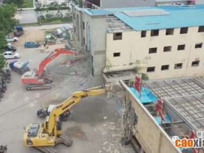 拆拆拆!曹县蓝天宾馆、蓝天大酒店及影响赣江路建设的房屋拆除