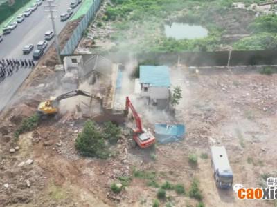 曹县磐石宾馆棚改片区一征收房屋被依法进行拆除