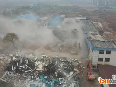 曹县姜街棚改片区原罐头厂厂区建筑被依法拆除