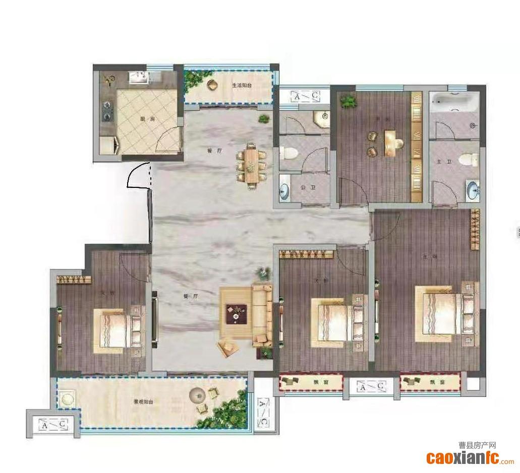曹州府自家房子出售可以走一手手续 四室两厅房子 洋房  边户