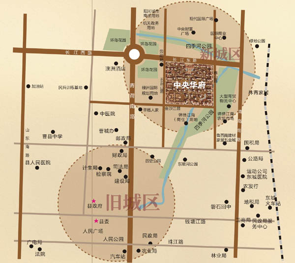 曹县交通地图图片